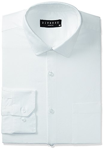 Diverse Men's Printed Regular Fit Cotton Formal Shirt (DVF02F1L01-200-42_White)