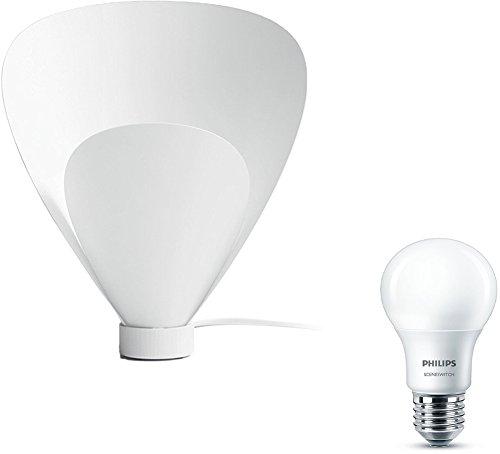 Preisvergleich Produktbild Philips myLiving Tischleuchte Pine, 60W, E27, weiß, inkl. Philips 3-in1 LED Lampe Sceneswitch