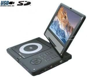 "Sigmatek - Lecteur DVD portable avec écran rotatif 10,2"" - PDX4200"