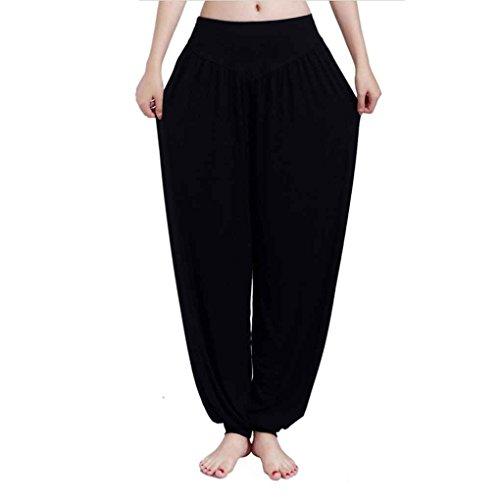 Provide The Best Frauen mit hohen Taille Yoga-Hosen Loser Bauchtanz Bloomer Modal Fest Tai Chi Hose - Besten Yoga-hose