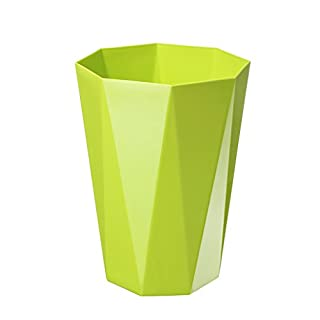 AILI Thickened Plastic Diamond Shape Trash Bin Kitchen Living Room Bathroom Waste Paper Basket Five Colors (Color : Green)
