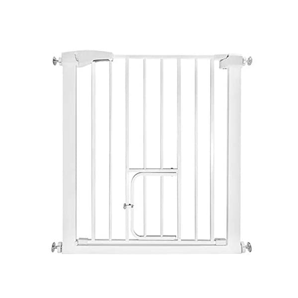 Punch-free pet door bar dog cat fence block encryption height child safety fence fence isolation door AA-SS-Safety Door ♥Squeeze and lift handle for easy one handed adult opening ♥Quick-release fittings for removal when not required ♥Includes stop pins for mounting at the top of stairs 1