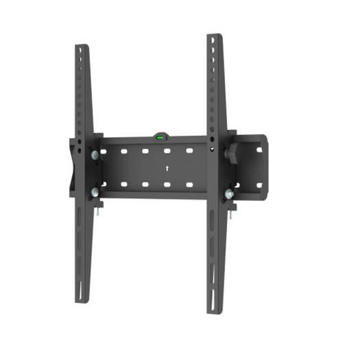 TooQ LP4255T-B - Soporte fijo inclinable de pared para monitor/TV/LED de 32' a 55', hasta 40kg de peso, distancia a la pared 53mm, incluye nivel de burbuja, inclinacion -12º, formato VESA hasta 400x400, color negro