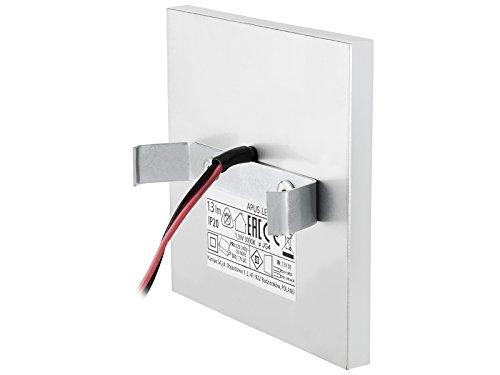 5 Stück LED Wand Einbau-Leuchte ideal für Treppen-beleuchtung – Moderne Form aus Edelstahl & Glas für 60mm Dosen warmweiß - 5