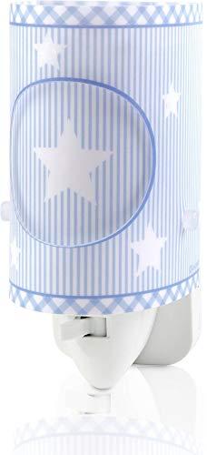 Dalber 62015T Sweet Dreams,  Luz nocturna Estrellas azul, bombilla LED incluida, Clase de eficiencia energética A++
