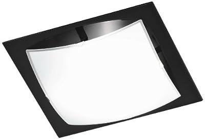 Honsel Leuchten 24981 Deckenleuchte Glas weiß matt/Rand schwarz von Honsel bei Lampenhans.de