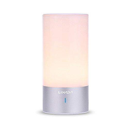 Lixada Lámpara Táctil de Mesa Luz de Ambiente LED de Escritorio Iluminación de Noche