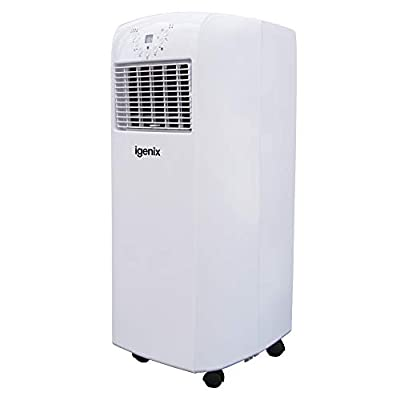 Igenix IG9902 3-in-1 Portable Air Conditioner with Heating Function, 9000 BTU, 1100 W - White