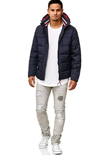 Indicode Herren Philpot Steppjacke Übergangsjacke Jacke mit Kapuze Navy S - 5