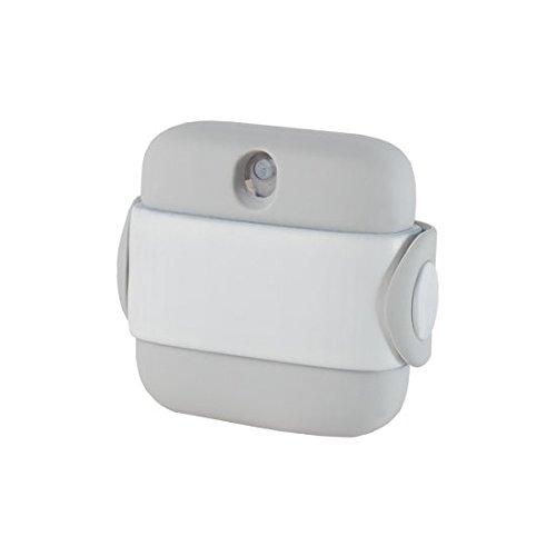 Hand Sanitizer by Banale | Distributeur de désinfectant pour les mains compact, portatif et parfumé | Conçu pour le voyage, notre vaporisateur à la main s'adapte dans une poche ou peut être attaché à des sacs, des sacs à dos, des ceintures et plus avec sa sangle élastique intégrée | Chaque pot est livré avec 100 pulvérisateurs et est facilement rechargeable | Sans alcool certifié sécurisé avec test dermatologique (Blanc et Gris)