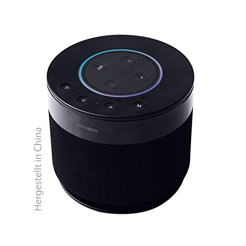 Swisstone Dotbox 1 Bluetooth-Lautsprecher (Akkubetrieb, 360° Surround Sound, Made for Echo Dot (2. Gen.)) schwarz