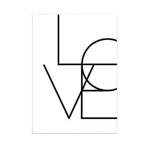 SoulSisters Living Hochwertiger Leinwanddruck mit Love Schriftzug als Motiv A4 - Kunstdruck Fine Art...