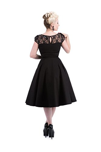 Hearts & Roses Women's Lace Evening Dress 10 Black