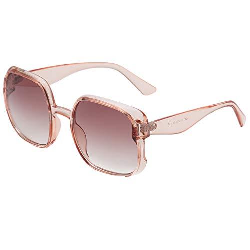 fazry Damen Herren Mode unregelmäßige Form Sonnenbrille Vintage Style Brille(A)