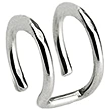 Piercing falso para la oreja, doble anillo de acero quirúrgico
