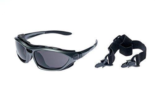 Alpland Schutzbrille, Bergbrille Gletscherbrille Skibrille mit höchstem Sonnenschutz, Cat 4