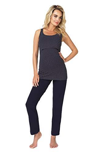Noppies Schlafanzug Umstandsschlafanzug Sleep Shirt + Hose Pyjama Nachtwäsche Still- Pyjama 90N4410 + 90N4417 Gr. M