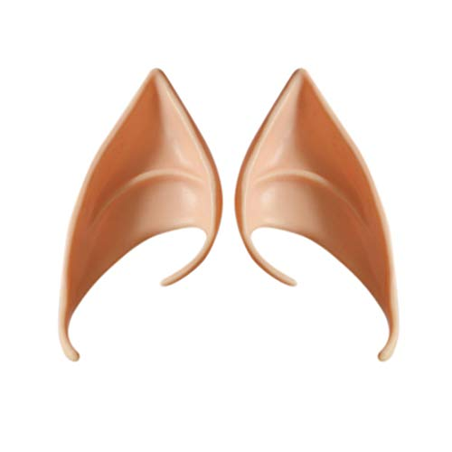 Sanzhileg Halloween Dekorationen Paar Elf Ohren Latex Weiche Prothese Falsche Ohr Halloween Party Fairy Cosplay Zubehör Halloween Decor (Prothesen-make-up Halloween Für)