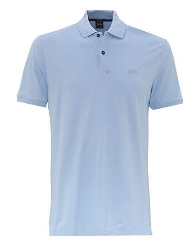 BOSS Hugo Herren Poloshirt Pallas Regular Fit Kurzarm bleu (50) L