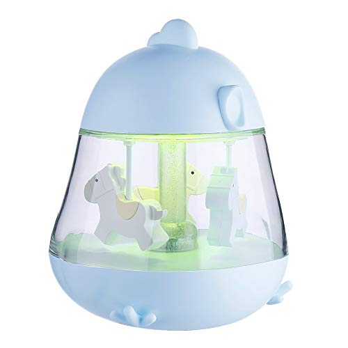 giostra carosello musicale con cambio di colore a LED per bambini e ragazze HorBous carillon classico rosa//oro a molla