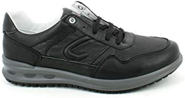 Donna   Uomo grigioport -scarpe da ginnastica Bassa in in in Pelle Nera Grande svendita online Funzione eccezionale | Exit  af990a
