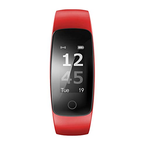 TRDCZ ID107 Plus HR Smart Armband Activity Tracker Pulsmesser Uhr Herzfrequenz GPS Smart Band Sport Tester,Red