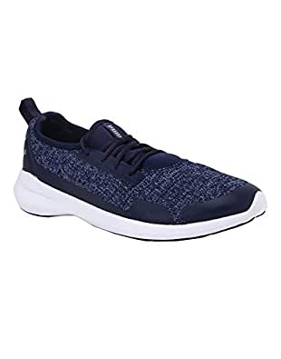 PUMA Men's Stride evo IDP Peacoat Silver Sneakers-10 UK/India (44.5 EU) (4060979740273)