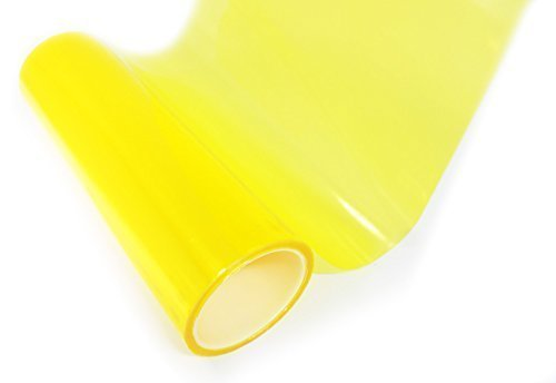 Scheinwerfer FOLIE Rückleuchte Nebler Tönungsfolie Tönung Gelb & Schwarz DUB (Gelb 30x50cm)