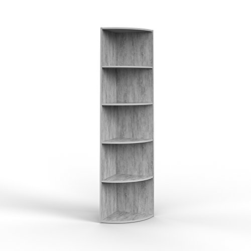 Vicco Eckregal 3 Dekore flexibel einsetzbar 5 Ablagen 180x40x40cm (Beton)