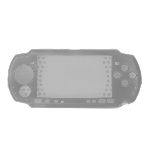 Youngy Silikon-Schutzhülle für Sony PSP 2000 3000 Konsole, Weiß 17.5×8cm/6.89×3.15in Sliver&Gray