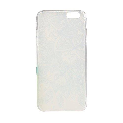 Voguecase® Pour Apple iPhone 5 5G 5S, TPU Silicone Shell Housse Coque Étui Case Cover (l'orange vélo)+ Gratuit stylet l'écran aléatoire universelle Fleur dentelle 02/Bleu