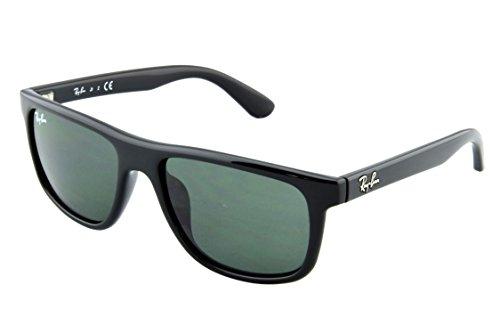 Ray Ban Unisex Sonnenbrille Wayfarer, Gr. Medium (Herstellergröße: 50), Schwarz (Gestell: Schwarz, Gläser: Grün Klassisch 100/71)