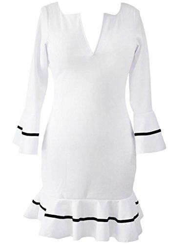 Dissa S1122732 Deman Sexy Mini Kleid Weiß