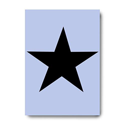 Star A5Schablone für gestrichene Dekoration -
