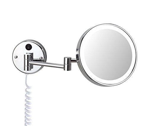 DEUSENFELD WLED700 - beleuchteter Tageslicht LED Kosmetikspiegel 7- Fach Vergrößerung, Ø 20cm,...