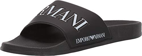 Armani footwear emporio sliders uk 10 black and white