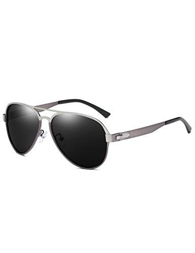DUCO Premium Flexible Größe Herren Aviator Stil Polarisierte Sonnenbrille 100% UV Schutz 3028...