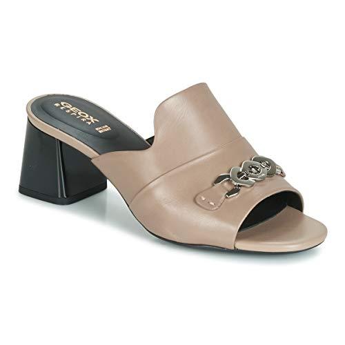 Geox d seyla sandal mid c, ciabatte donna, marrone (lt taupe c6738), 39 eu