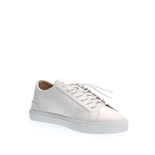 Sneaker D.A.T.E. Newman in pelle bianca Blanc