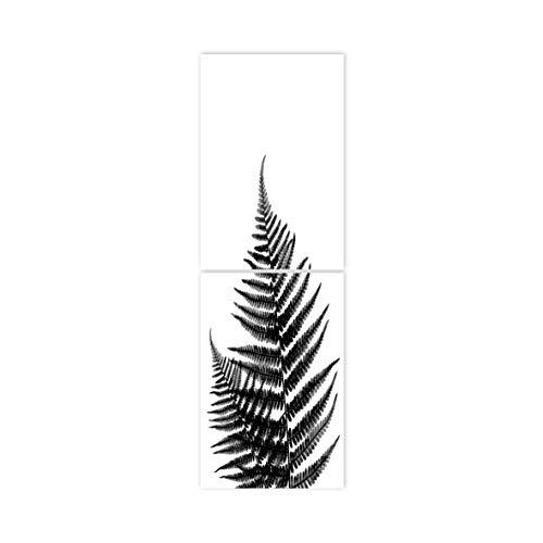 Boubouki - Wasserabweisende Fliesenaufkleber für Bad und Küche - Farn Poster - 20x30cm, Transparent -