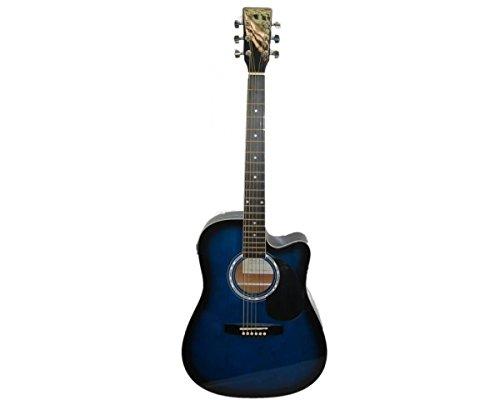 Guitarra Acústica electrificada a Cutaway–Color Azul–ag300ceq4