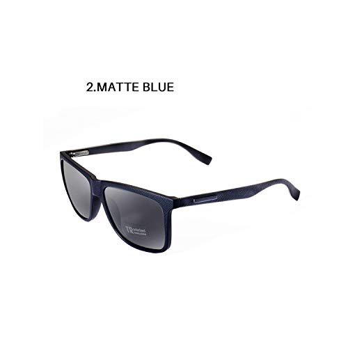FGRYGF-eyewear2 Sport-Sonnenbrillen, Vintage Sonnenbrillen, Polarisiert Sunglasses Leather Frame Luxury TR90 Square Vintage Sun Glasses For Men/Women Driving Gafas UV400 AE0628 NO2