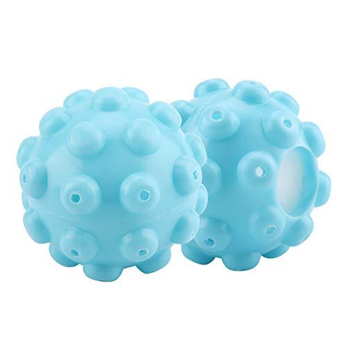 Garosa Trocknerbälle Natürliche Weichspüler Reduziert Kleidung Falten Blau PVC Wäschetrockner Bälle Kleidung Reinigungszubehör für Haus 2Pcs/Set