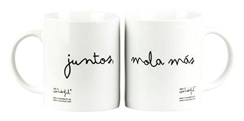 Mr. Wonderful - Set de 2 tazas con mensaje Tostada y mermelada - Junto