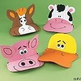 12Schaumstoff Farm Tier Visiere–Fun Party Hüte