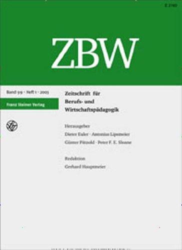 ZBW Zeitschrift für Berufs- und Wirtschaftspädagogik [Jahresabo]