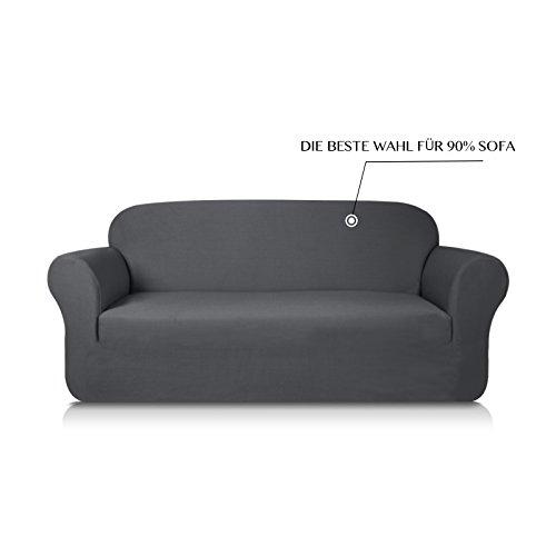 Subrtex 3-Sitzer Sofabezug Sofahusse Stretchhusse Sofaüberwurf Couchhusse Spannbezug (Sofa, Grau)