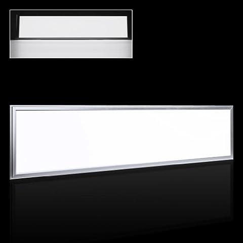 Réduction pour Prime Day: Auralum® Dalle LED Plafonnier Luminaire 120x30cm 54W SMD 2835 Lampe Panneau Lumineux LED pour Plafond Mur Carré blanc froid 6000K