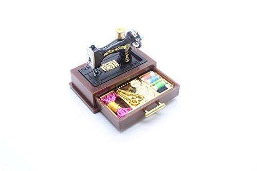 ChangThai Design Vintage Sewing Machine Dollhouse Miniatur (Miniatur-thai-food)