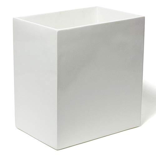 Jonathan Adler Lacquer Bath Wastebasket, One Size, White - Jonathan Adler Designer